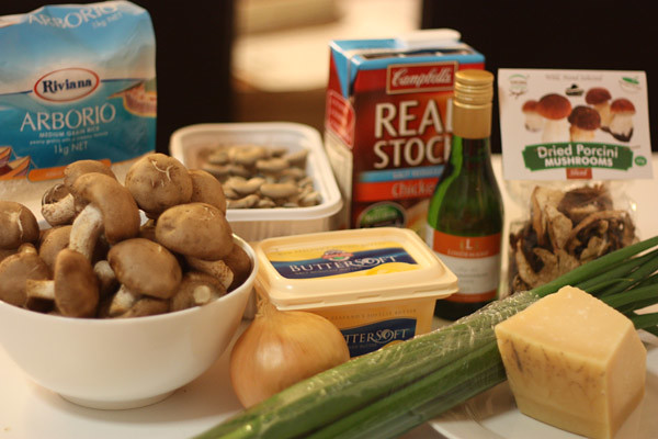 Exotic Mushroom Risotto - Ingredients