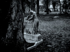 Weeping Widow (KJGarbutt) Tags: trees blackandwhite bw white black cemetery grave graveyard stone photography cross random sony misc tomb cybershot graves crucifix kurtis miscellaneous tombstones sonycybershot oddsandends bitsandbobs garbutt whitebandw kjgarbutt kurtisgarbutt kurtisjgarbutt kjgarbuttphotography
