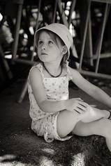 Downtime (Cisco photostream) Tags: portrait france girl monochrome childhood sepia kid child little young provence fr francia ritratto provenza bambina seppia valensole monocromatico giovane infanzia nikkor2470mmf28g