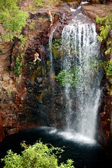 Bombs Away (mrfuller) Tags: travel cliff waterfall jump australia roadtrip climbing northernterritory litchfield topend dsc85071
