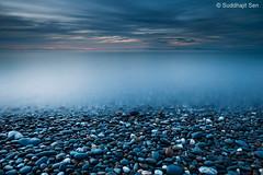 Silver Mist of Mannan (Suddhajit) Tags: longexposure evening north isleofman pointofayre canoneos5d scottishmountains lee09gnd mistysea 1740llens suddhajitsen pursuitoflight