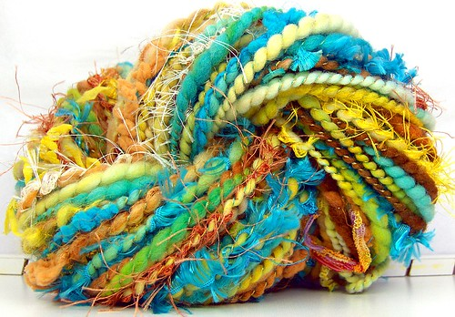 FunctionArt - Summer's End - Hand Spun Art Yarn