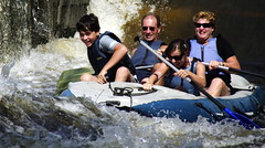 10.8.10 1 Vyssi Brod Weir 6 141 (donald judge) Tags: water river kayak republic czech canoe raft vltava brod weir vy southbohemia