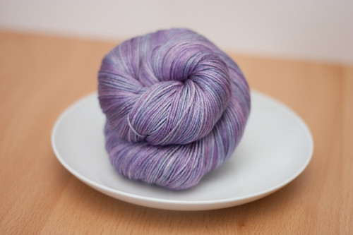 "Eclair Silk Sock in ""Wisteria"""