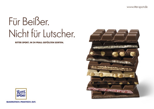 Plakat RITTER SPORT Beißer - Querformat