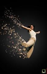 flying girl (ayman_ay17) Tags: art girl by photoshop design flying ayman designed