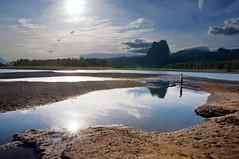 On the sandbar (Darrell Wyatt) Tags: reflection water river steph columbia columbiariver hamiltoncreek beaconrock newvision peregrino27newvision