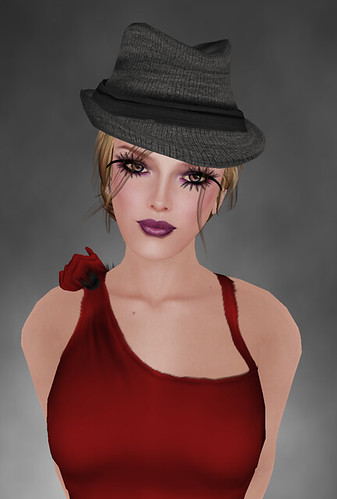 *Cupcakes - Loppy Dress - Red on MM + .:EMO-tions:. * BELINDA * /naturals on Hair Fair still sim 4