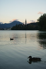 Bled island, sunset (giacomo.callari) Tags: church slovenia bled bledisland sunsetinbled lakeofbled