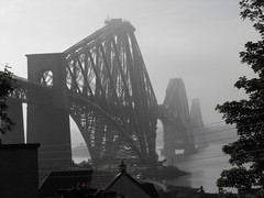 Forth Bridge in the mist (shotlandka) Tags: bridge mist metal coast scotland fife rail railway forth shore finepix fujifilm fifecoastalpath flickraward  platinumheartaward s1000fd 100commentgroup tripleniceshot flickraward5 mygearandmesilver flickrawardgallery