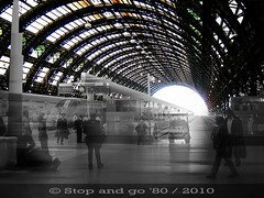 arrivare e partire sotto quelle arcate di ferro e vetro (Stop_and_go_'80) Tags: railroad italy milan glass station architecture effects photography waiting iron italia eurostar milano gimp 15 trains transportation fotografia departures stazione lombardia architettura arrivals centrale vetro ingegneria attesa lombardy ferro treni tecnica effetti fotoritocco binario trasporti arrivi partenze quindici