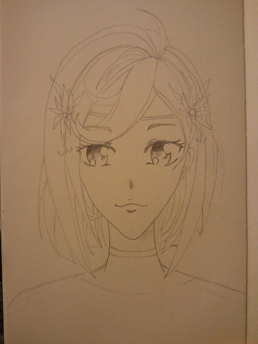 Anime Girl - Step 6 - Final Pencil
