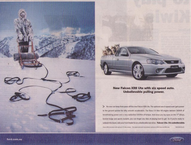 2005 Ford BF Falcon XR8 Ute Ad. One great seller for Ford Australia was the