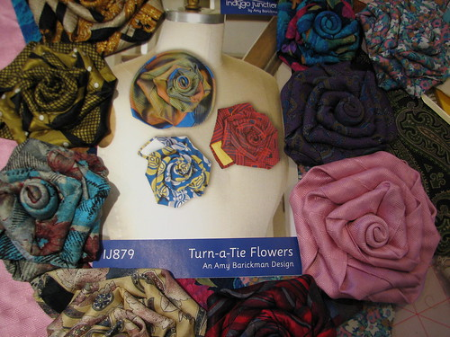 flowers made from ties