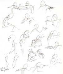 9.9.10 - Early American gesture sketches