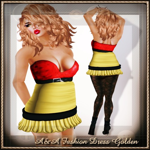 A&A Fashion Dress Golden