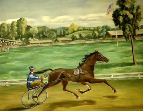 The Leading Horse and Driver - The Running of the Hambletonian Stake