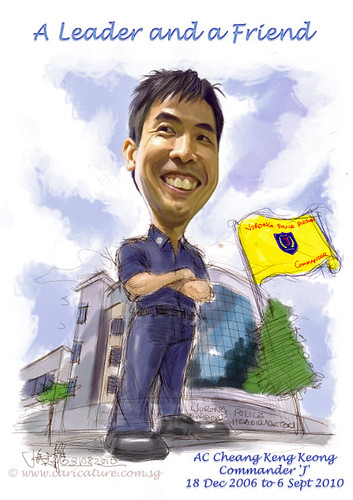 Digital caricature for Singapore Police Force - 3