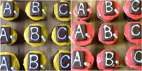 Back-To-School Blackboard Cupcakes