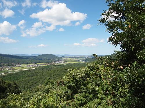 月山富田城本丸からの眺め