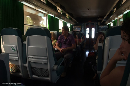Travelling in an Intercidades train