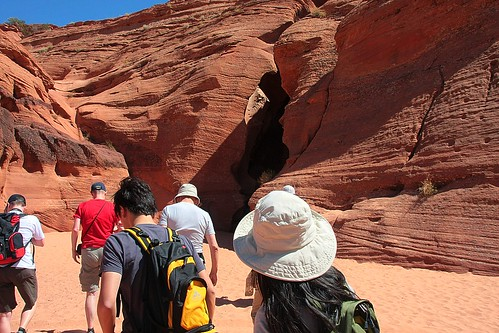 Through this gash is the slot canyon
