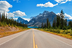 A Road to Paradise - The Icefields Parkway (Jeff Clow) Tags: vacation lake mountains landscape scenery view getaway scenic vista albertacanada banffnationalpark icefieldsparkway bowlake