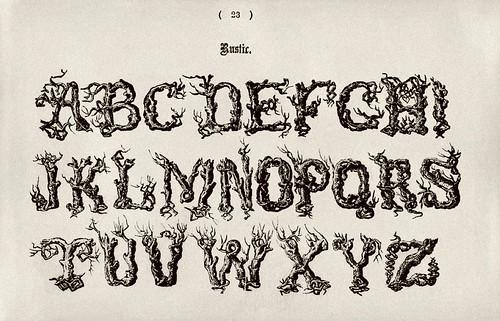 010-Alfabeto mayusculas rustico-Examples of Modern Alphabets… 1913- Freeman Delamotte