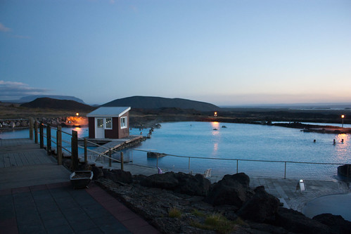 M√Ωvatn Mineral bath - we had a late night dip in the geothermally heated baths