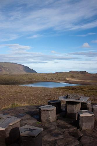 an Icelandic picnic table