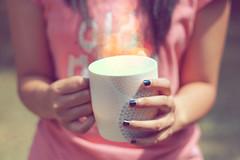 Day fifty one (bbabyshambles) Tags: pink sun project bokeh mug nailpolish 365days