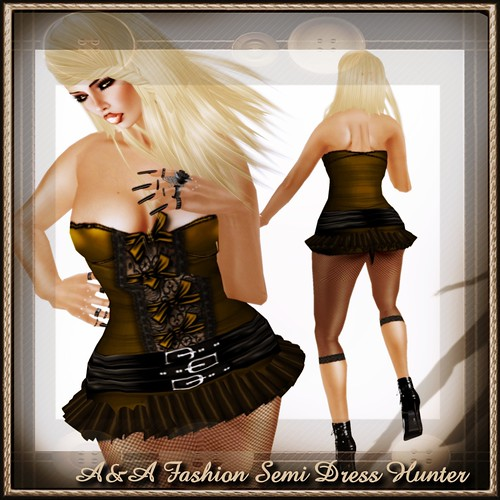 A&A Fashion Semi Dress Hunter