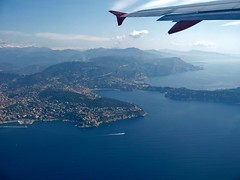 Old fashioned (Pirotek) Tags: sea landscape lumix cotedazur panasonic shore vol cote paysage avion