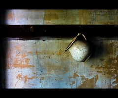 (Alex Ragnar Photography) Tags: abandoned cup wall barn peeling pottery hanging bracken hook cracked pouring stoneware