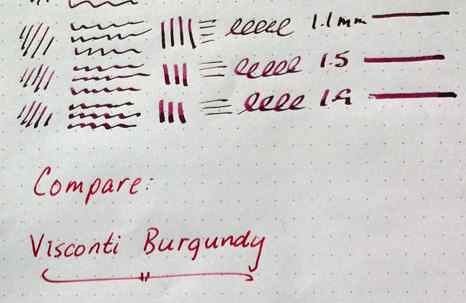 Ink Comparison: Private Reserve Burgundy Mist vs. Visconti Burgundy