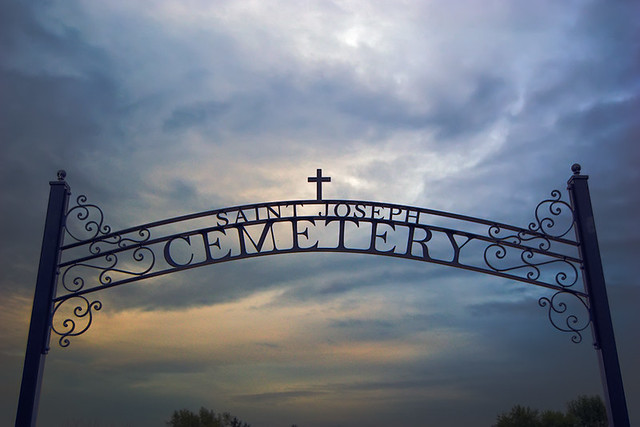 Saint Joseph Roman Catholic Church, in Josephville, Missouri, USA - cemetery gate