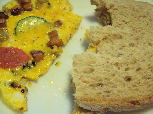 Courgette-omelet