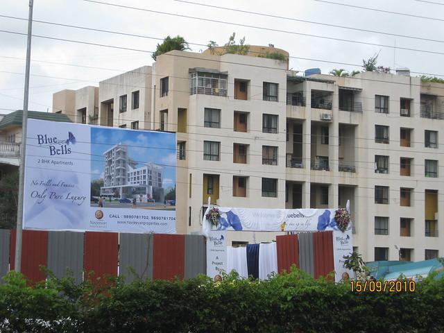Site of Navjeevan Properties' Blue Bells on Sinhagad Road Pune