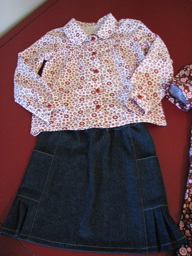 Music Class Skirt and Blouse
