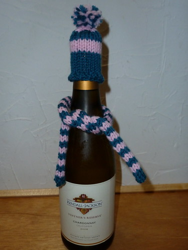Wine scarf & hat