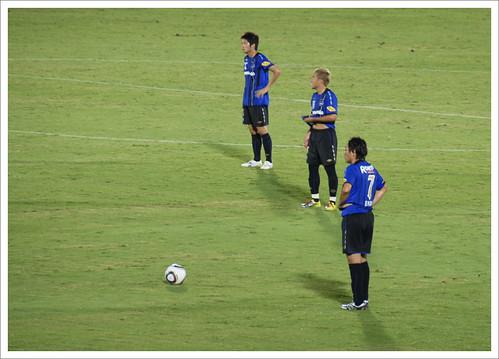 遠藤保仁フリーキック02@ガンバ大阪 VS セレッソ大阪
