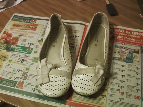 shoes before