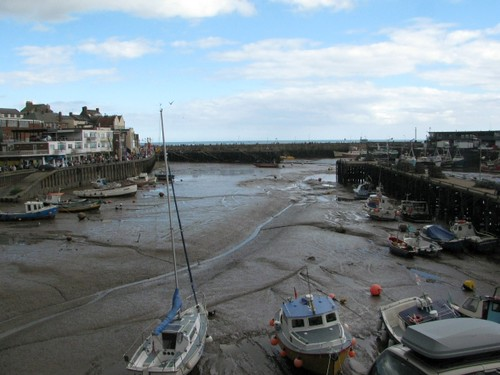 Bridlington Harbour at low tide
