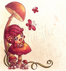 Keyra (Anita Mejia) Tags: pink cute illustration mexico girly fairy invitation card greeting ilustracion babayshower chocolatita anitamejia anacard