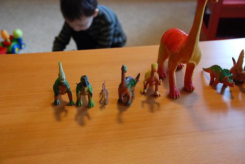 Dinosaur line up