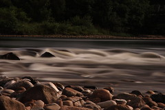 Silky smooth (mr__fox) Tags: morning motion blur water scotland rocks long exposure fort stones august william exhaust campervan 2010