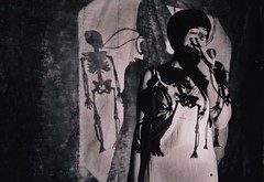 (babyface mcCall) Tags: selfportrait shadows lingerie smoking skeletons overheadprojector cindyshermaninspired