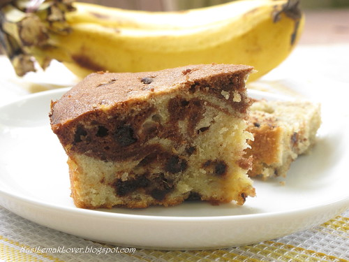 Marble Chocolate Banana Cake