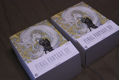 Our two FINAL FANTASY XIV Collector's Edition