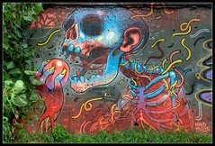 ARYZ II (Romany WG) Tags: barcelona street urban art skull graffiti mixed media outsider crew aerosol granollers aryz